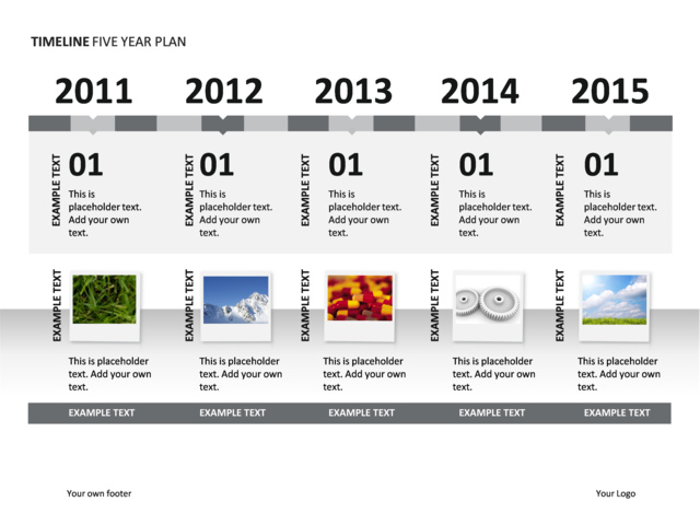 Timeline year vatozozdevelopment powerpoint slide timeline diagram 5 years illustrated p34 6 toneelgroepblik