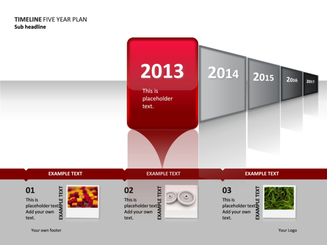 powerpoint slide - timeline diagram - year 1 of 5 - p34-1, Powerpoint templates