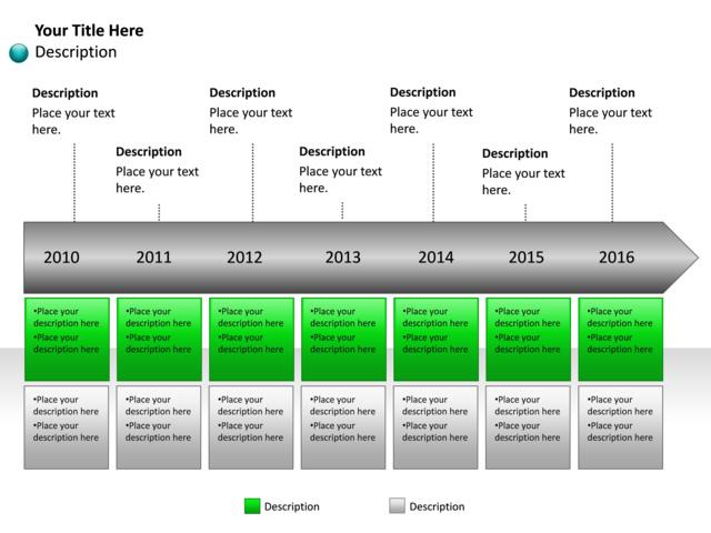 powerpoint slide - timeline diagram - year - 7 years