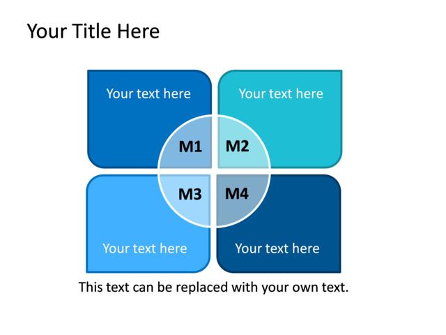 Powerpoint Slide - Titled Matrix Diagram - 4 Boxes