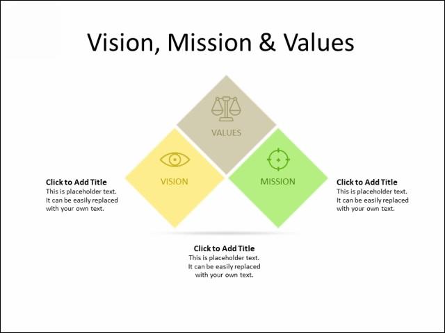 PowerPoint Slide - Block Diagram - 3 Squares - Multicolor